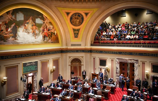 The Senate floor gallery was full for the Real ID Bill vote on Monday.